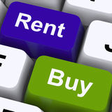 Rent And Buy Keys Showing House And Home Stock Images