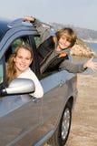 Rent a car. Young family ,rent a car Royalty Free Stock Photos