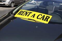 Rent a car. Car in the parking lot Stock Photos