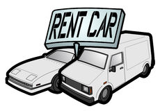 Rent car Royalty Free Stock Photo