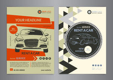 Rent a car business flyer template. Auto service Brochure templates Royalty Free Stock Image