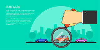 Rent a car concept banner Royalty Free Stock Photo