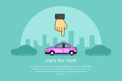 Rent a car concept banner Stock Photo