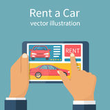Rent car, concept. Royalty Free Stock Photos