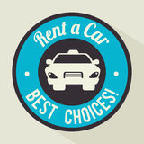 Rent a car design, vector illustration. Royalty Free Stock Images
