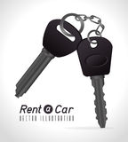 Rent a car design, vector illustration. Royalty Free Stock Photo