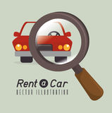 Rent a car design, vector illustration. Royalty Free Stock Image