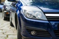 Rent Car headlights Royalty Free Stock Photo