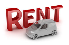 Rent a car isolated on white Royalty Free Stock Photos