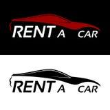 Rent a car logo Stock Photography