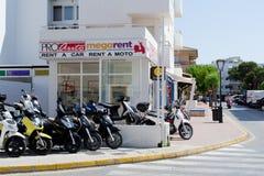 Rent a car rent a moto Stock Images