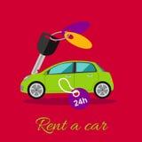 Rent a Car Stock Image