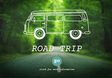 Rent A Car Road Trip Travel Destination Concept Royalty Free Stock Photos
