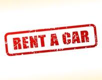 Rent a car text buffered Stock Photos