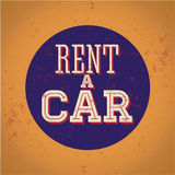 Rent a Car Vintage sign print Royalty Free Stock Image