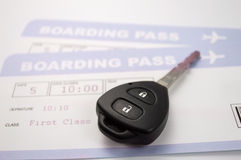 Rent a car on your next flight Stock Photo
