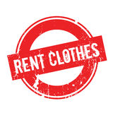 Rent Clothes rubber stamp Royalty Free Stock Photo