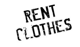 Rent Clothes rubber stamp Stock Photo