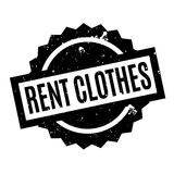 Rent Clothes rubber stamp Royalty Free Stock Image