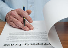 Rent Contract Stock Photography