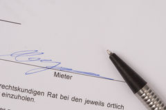 Rent contract german Royalty Free Stock Photo