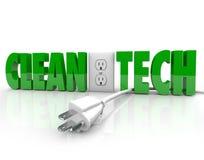 Rent elektriskt uttag för Techmaktproppen kopplar från energikälla stock illustrationer