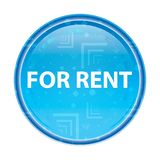 For Rent floral blue round button vector illustration