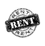 Rent grunge rubber stamp Stock Photos