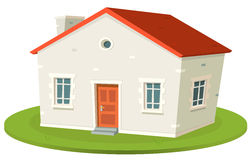 Rent-A-House. Illustration of a cartoon french styled built small house for rental or for sale Stock Photography
