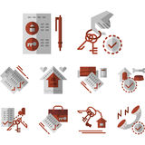 Rent of house flat color icons Royalty Free Stock Photography