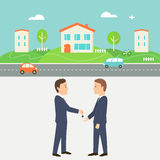 Rent a House Illustration. Collaborative Consumption and Shared Economy Stock Photography