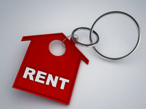 Rent house keychain symbol Royalty Free Stock Photography