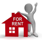 For Rent House Shows Rental Or Lease Property. For Rent House Showing Rental Or Lease Property Royalty Free Stock Image