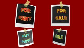 For rent,illustration Stock Photos