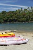 Rent of Kayak at Ilha das Cobras in Ilhabela, Brazil Royalty Free Stock Photography