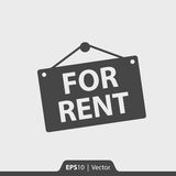 For rent label  icon for web and mobile Stock Photos