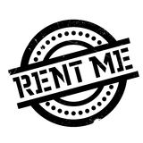 Rent Me rubber stamp Stock Photo