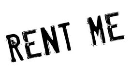 Rent Me rubber stamp. Grunge design with dust scratches. Effects can be easily removed for a clean, crisp look. Color is easily changed Royalty Free Stock Photos
