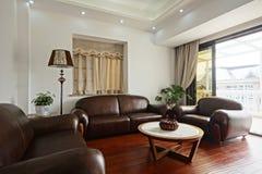Bekväma sofas Arkivfoto