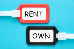 Rent Own Concept royalty free stock images