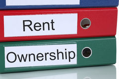 Rent or ownership purchase real estate concept Stock Images