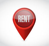 Rent pointer illustration design Stock Images
