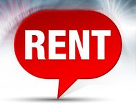 Rent Red Bubble Background royalty free illustration