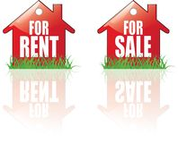 For Rent, For Sale house icons. Vector Illustration vector illustration