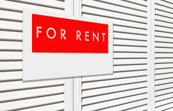 For rent sign Royalty Free Stock Image