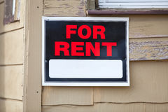 For Rent Sign. On a house with space for copy royalty free stock photography