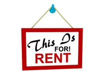 This is for rent sign Stock Photography