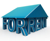 Rent Sign Under House Shows Rental Property Royalty Free Stock Image