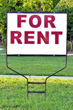 For rent sign. On the yard in front of a house stock photography
