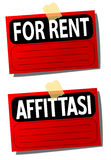 Rent signs Stock Photo